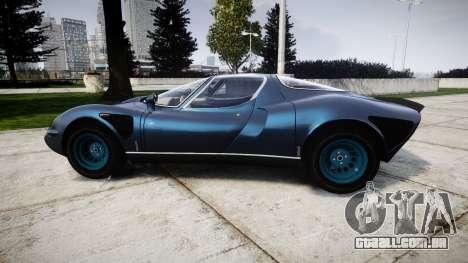 Alfa Romeo 33 Stradale para GTA 4 esquerda vista