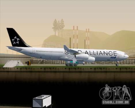 Airbus A340-300 All Nippon Airways (ANA) para GTA San Andreas vista traseira