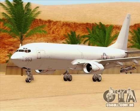 Boeing P-8 Poseidon US Navy para vista lateral GTA San Andreas