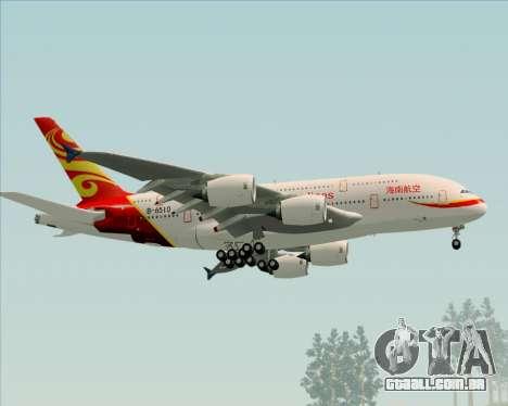 Airbus A380-800 Hainan Airlines para GTA San Andreas vista direita