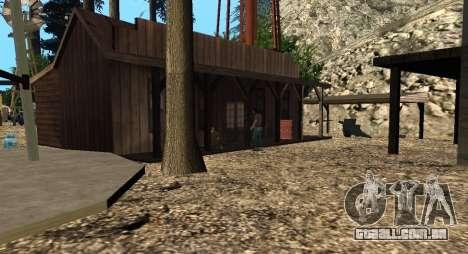 O Altruísta acampamento no monte Chiliad para GTA San Andreas quinto tela