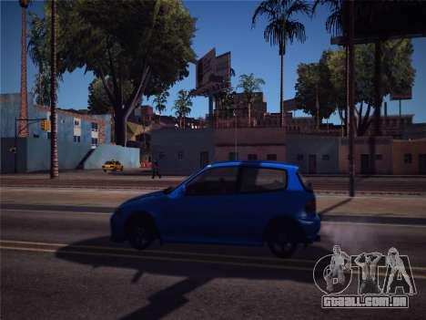 Honda Civic JDM Edition para GTA San Andreas traseira esquerda vista