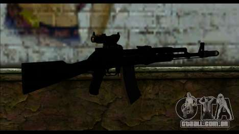 AK-101 ACOG para GTA San Andreas segunda tela
