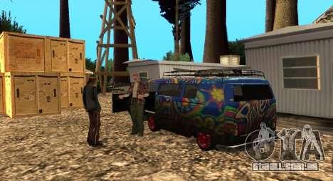 O Altruísta acampamento no monte Chiliad para GTA San Andreas terceira tela