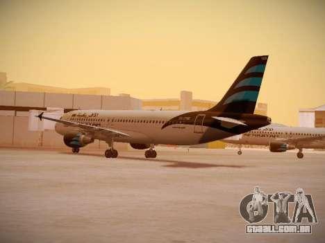 Airbus A320-214 Afriqiyah Airways para GTA San Andreas vista direita