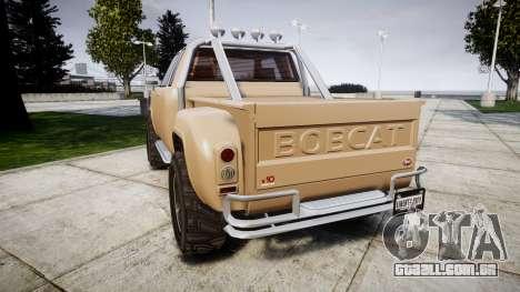 Vapid Bobcat Desert para GTA 4 traseira esquerda vista