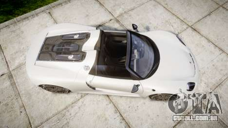 Porsche 918 Spyder 2014 para GTA 4 vista direita