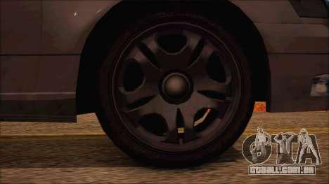 GTA 5 Intruder para GTA San Andreas traseira esquerda vista