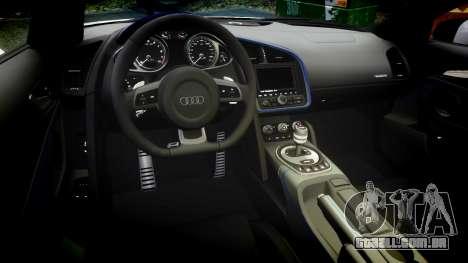 Audi R8 LMX 2015 [EPM] Cobweb para GTA 4 vista interior