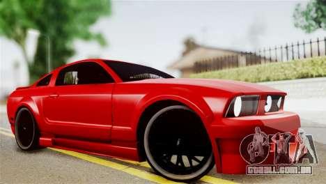 Ford Mustang GT 2012 para GTA San Andreas traseira esquerda vista
