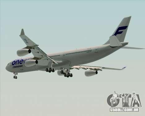 Airbus A340-300 Finnair (Oneworld Livery) para as rodas de GTA San Andreas