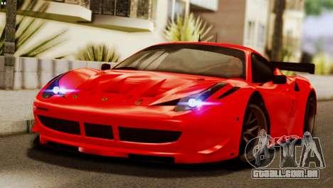 Ferrari 62 F458 2011 para GTA San Andreas vista superior