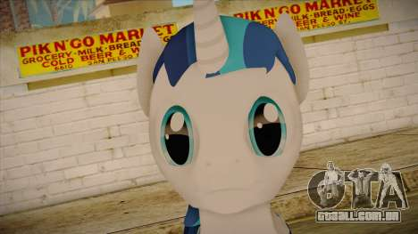 Shining Armor from My Little Pony para GTA San Andreas terceira tela