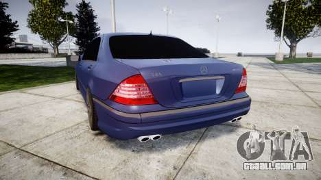 Mercedes-Benz W220 S65 AMG para GTA 4 traseira esquerda vista