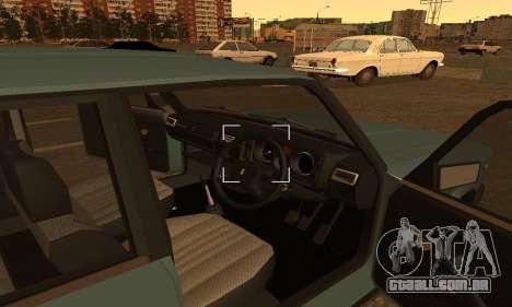 Lada 2104 Riva para GTA San Andreas traseira esquerda vista