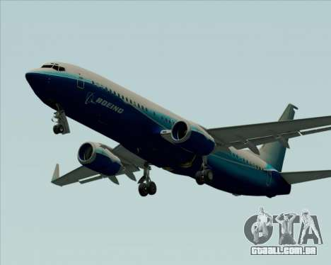 Boeing 737-800 House Colors para GTA San Andreas vista interior