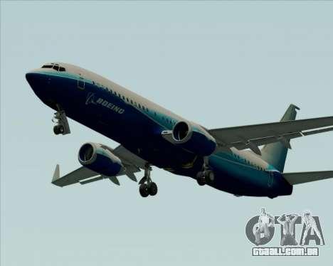 Boeing 737-800 House Colors para GTA San Andreas vista interior