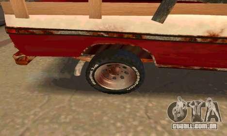 Ford PickUp Rusted para GTA San Andreas vista traseira