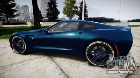 Chevrolet Corvette C7 Stingray 2014 v2.0 TirePi1 para GTA 4 esquerda vista