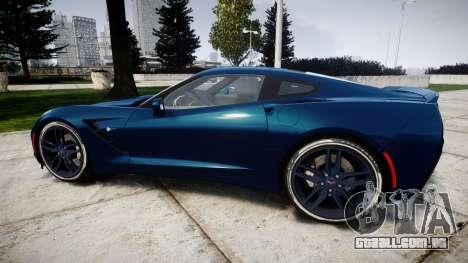 Chevrolet Corvette C7 Stingray 2014 v2.0 TirePi1 para GTA 4 esquerda vista