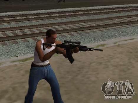 Heavy Sniper Rifle from GTA V para GTA San Andreas terceira tela