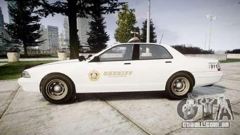 GTA V Vapid Police Cruiser Rotor [ELS] para GTA 4 esquerda vista