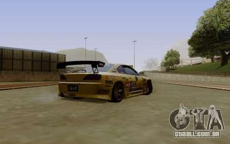 Nissan Silvia S15 NGK Motorsport para GTA San Andreas esquerda vista