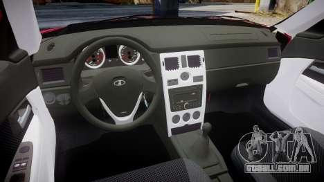 VAZ-2170 obarska para GTA 4 vista interior