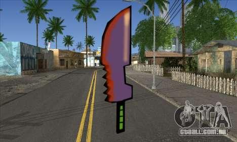 Cartoon espada para GTA San Andreas