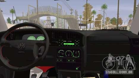 Volkswagen Golf Mk3 Harlequin Design para GTA San Andreas traseira esquerda vista