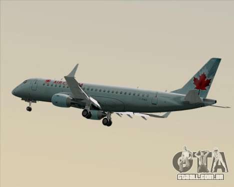 Embraer E-190 Air Canada para GTA San Andreas vista interior