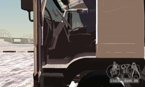 Iveco EuroTech Inflamável para GTA San Andreas vista traseira