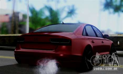 Audi S8 para GTA San Andreas esquerda vista