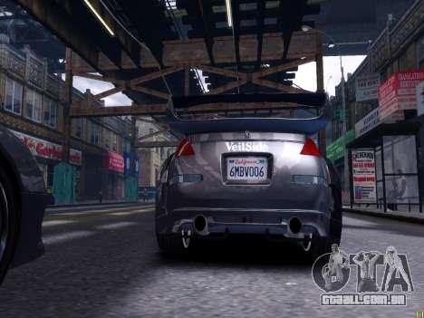 Nissan 350Z Tokyo Drift para GTA 4 traseira esquerda vista