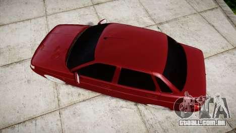 ВАЗ-2110 Bogdan rims2 para GTA 4 vista direita