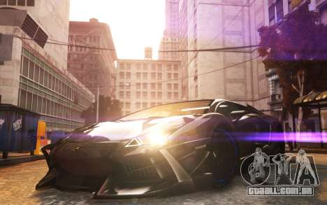 Lamborghini Aventador TZR R-Tech para GTA 4 traseira esquerda vista