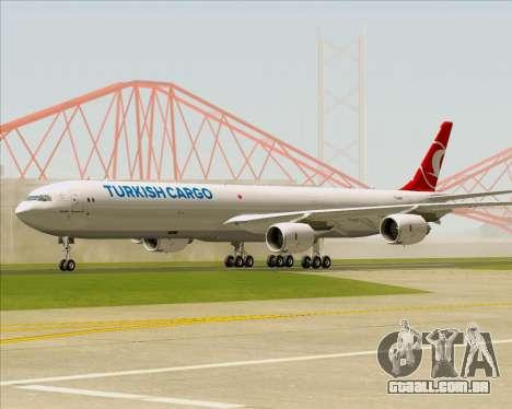 Airbus A340-600 Turkish Cargo para GTA San Andreas esquerda vista