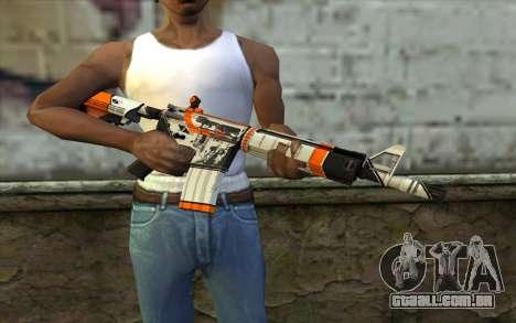 M4A4 from CS:GO para GTA San Andreas terceira tela