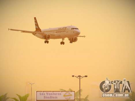 Airbus A320-214 Afriqiyah Airways para GTA San Andreas vista superior