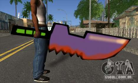 Cartoon espada para GTA San Andreas terceira tela