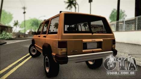 Jeep Cherokee para GTA San Andreas esquerda vista