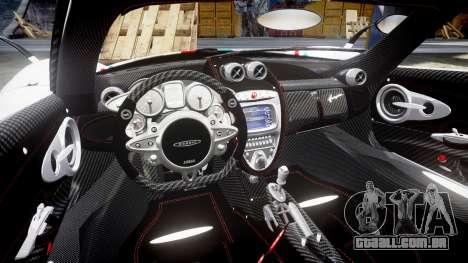 Pagani Huayra 2013 para GTA 4 vista interior