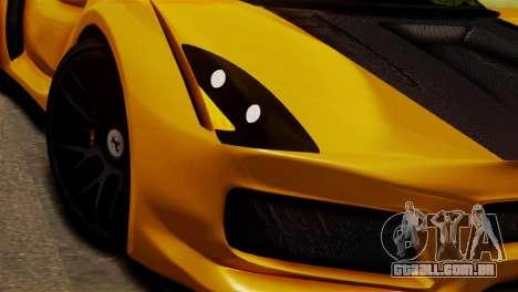 Ferrari Velocita 2013 SA Plate para GTA San Andreas traseira esquerda vista