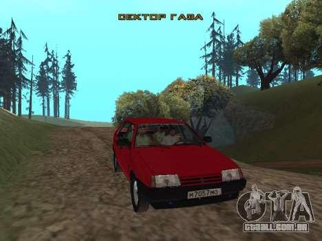 Grupo de botões de rádio Gaza para GTA San Andreas terceira tela