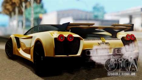 Ferrari Velocita 2013 SA Plate para GTA San Andreas esquerda vista