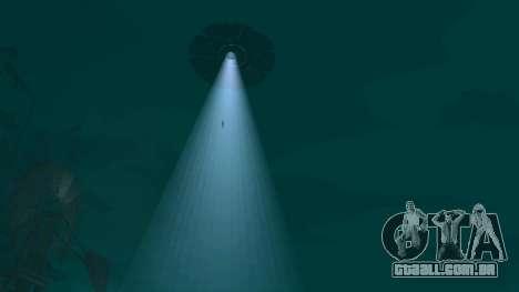 UFO sobre San Andreas para GTA San Andreas oitavo tela
