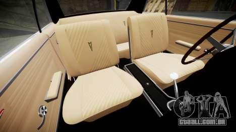 Pontiac GTO 1965 Sharpie para GTA 4 vista interior