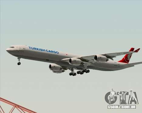 Airbus A340-600 Turkish Cargo para GTA San Andreas vista inferior