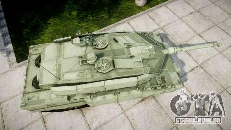 Leopard 2A7 EU Green para GTA 4 vista direita