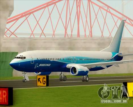 Boeing 737-800 House Colors para vista lateral GTA San Andreas